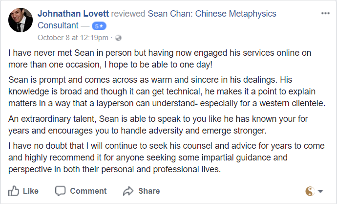 Sean Chan Review - Johnathan Levett